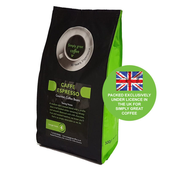 Coffee for machine use
