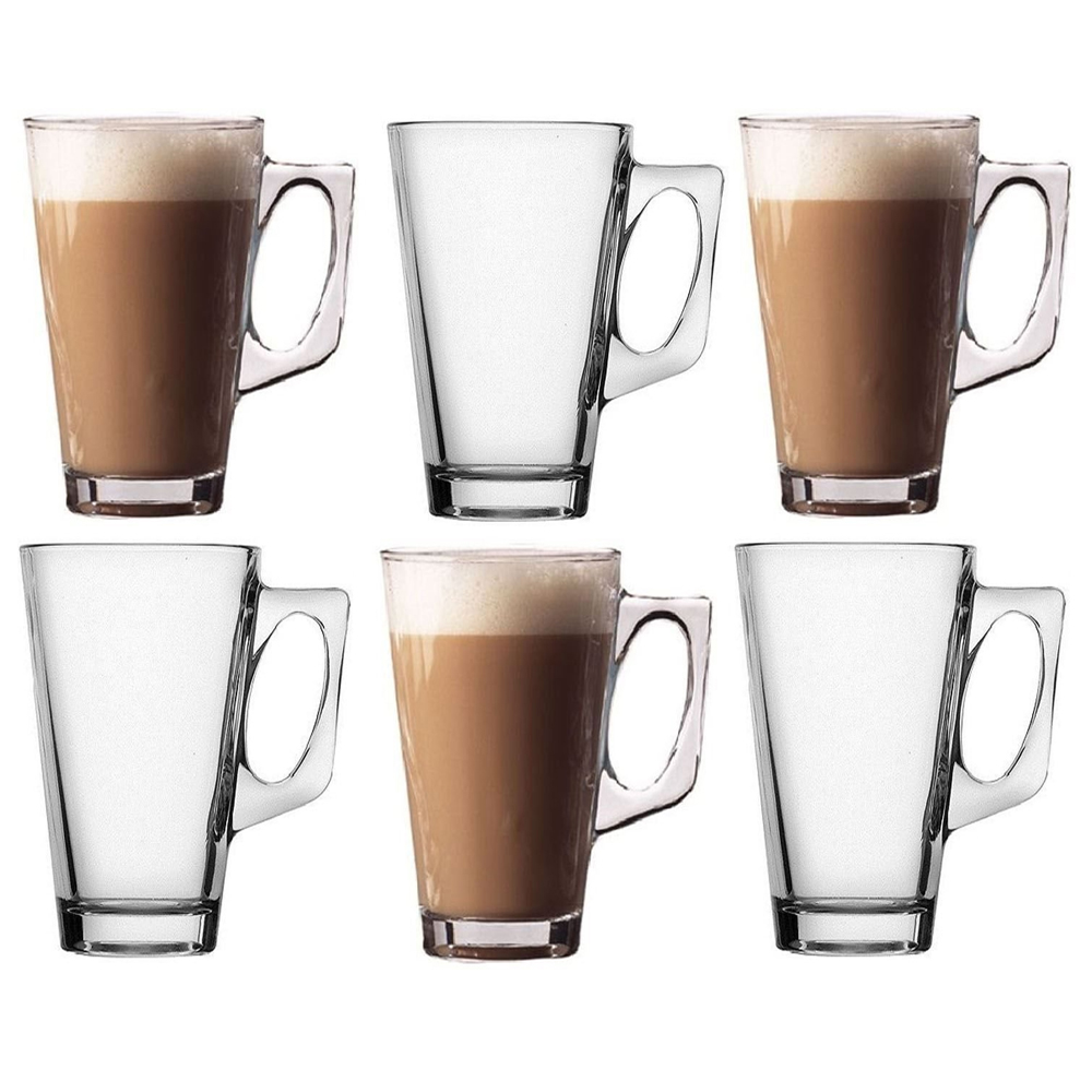 Latte Glasses Flat Based 12oz Box Size 1 X 6 Simply Great Coffee